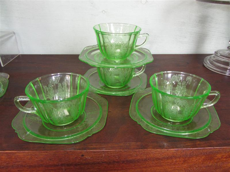 Green Depression Cup And Saucer Parrot Federal Glass Yesterday's Fascinating Green Depression Glass Patterns