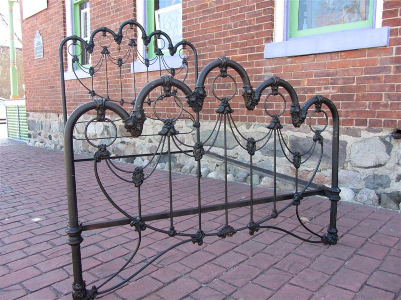 Antique Art Nouveau Cast Iron Full Bed Yesterday S Treasures
