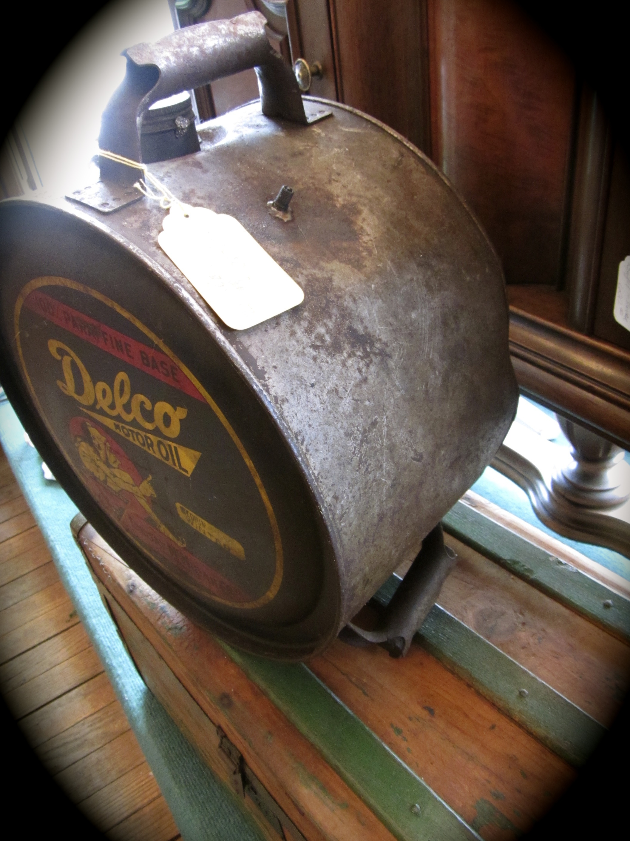 Antique Delco Motor Oil Can Rocker Can Yesterday 39 S